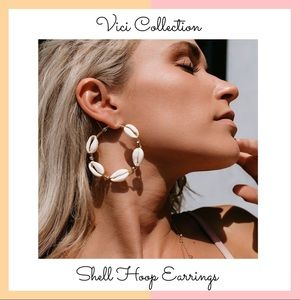 Vici Collection • Shell Hoop Earrings
